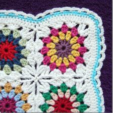 Flowers in the Snow:  Crocheted Blanket Workshop