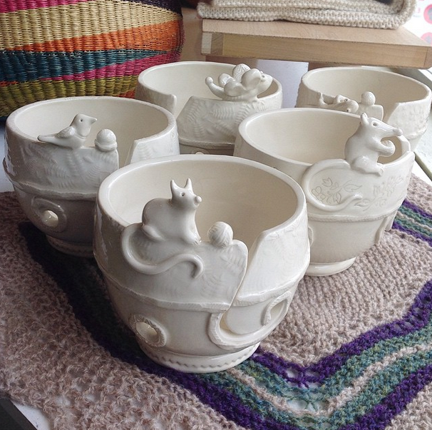 Porcelain Yarn Bowl