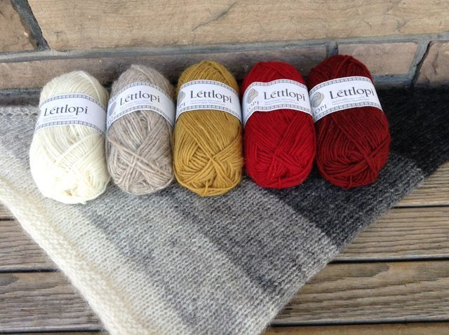 "New colours, shown on our original grey-toned <a href=""http://www.ravelry.com/projects/threebagsfull/nordic-wind"">Nordic Wind</a>"