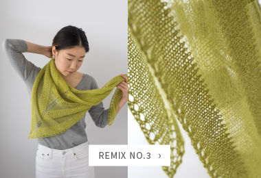 "Shibui Twig + Silk Cloud in the <i><a href=""http://www.ravelry.com/patterns/library/mix-no3"">Mix No. 3</a></i>&nbsp;Shawl"