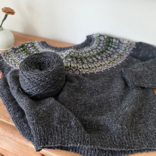 Finishing the Savory Knitting Lunenburg Pullover