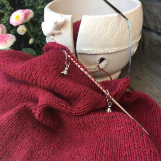 Work on the June Cashmere Cowl