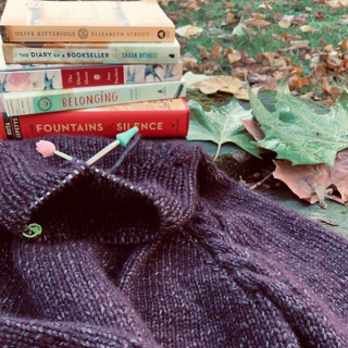 Autumn Sweater Knitting and Reading