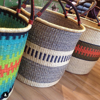 Fair Trade African Baskets for Yarn Storage