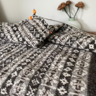 Work on The Wool Brokers Lynsey Jumper