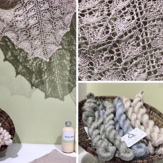 Flower Basket Linen Shawl