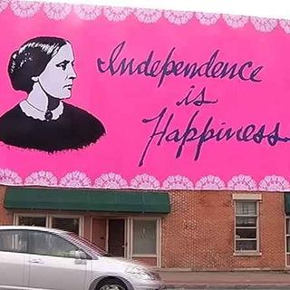 Crochet Mural Honours Susan B. Anthony