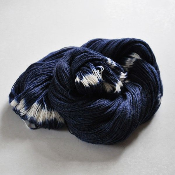Firefly, a Hand-Dyed Ikat Yarn