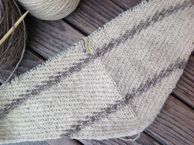 "Details on our <a href=""http://www.ravelry.com/projects/threebagsfull/ioana-shawl"">Ravelry Project Page</a>"