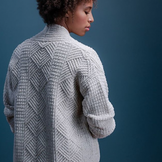 Jared Flood Watermark Cardigan in Armscote Manor Wool