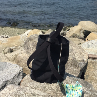 Knitting Backpack at New Brighton