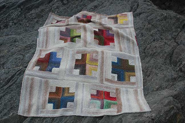 Mitered Crosses Blanket © KayGardener