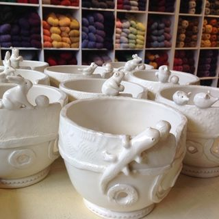 Yarn Bowls:  Where Knitting Meets Clay
