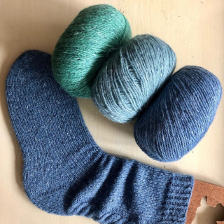 Boot Socks in Rowan Yarn