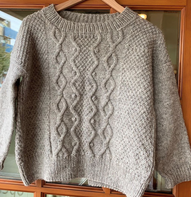 Just Finished Sand Meije Karersee Sweater