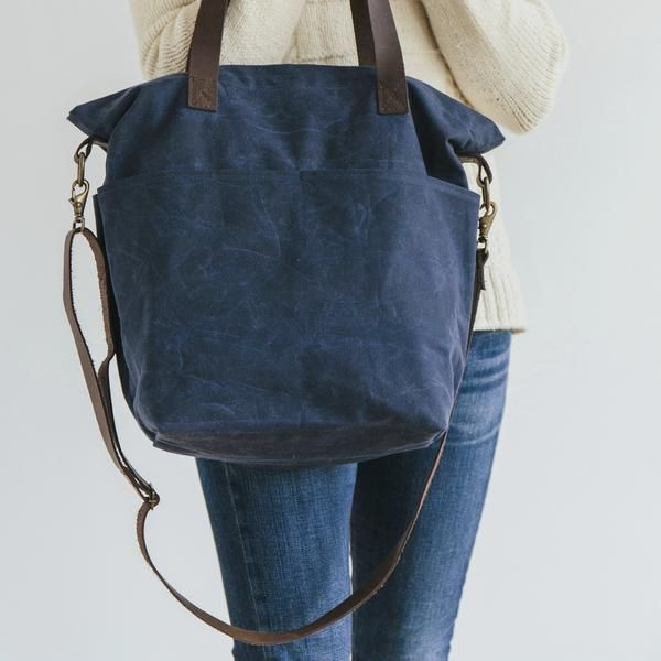 Waxed Canvas Cross Body Tote  © Twig and Horn
