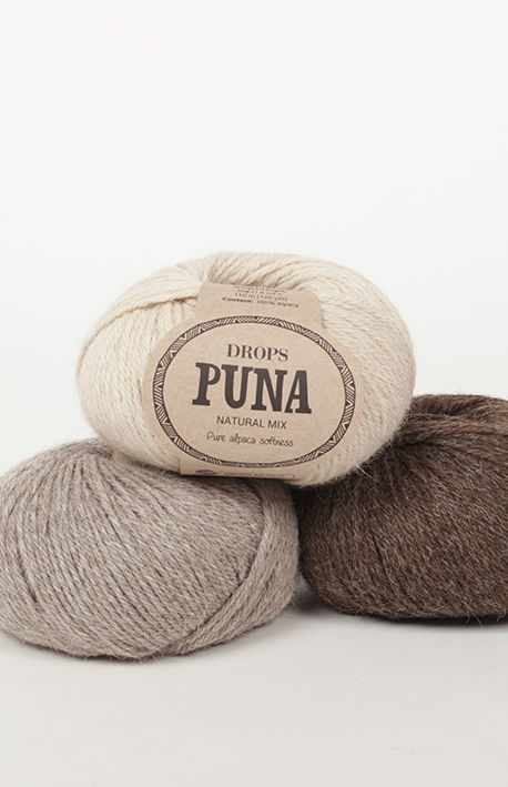 "<a href=""https://threebagsfull.ca/yarn/drops-puna/"">DROPS Puna</a> All Natural Peruvian Alpaca"