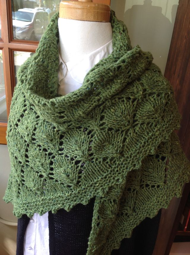"<a href=""http://www.ravelry.com/patterns/library/the-elder-tree-shawl"">Elder Tree Shawl</a> in Soft Donegal Tweed"