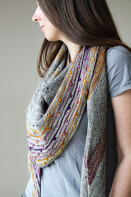 "Melanie Berg's lovely <a href=""http://www.ravelry.com/patterns/library/solaris-2"">Solaris</a> shawl"