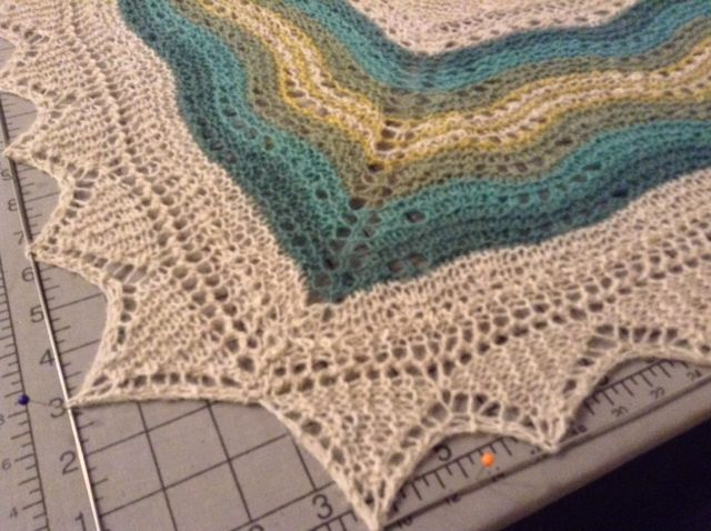 "<a href=""http://www.ravelry.com/projects/threebagsfull/hansel-full-version"">Hansel</a> blocking"