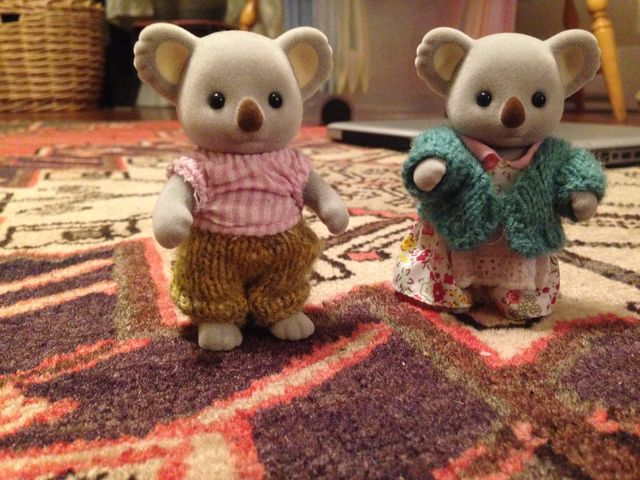 Miniature knits for Calico Critters