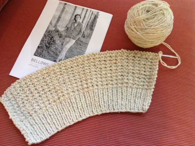 Casting on for Bellows in Soft Donegal double-stranded
