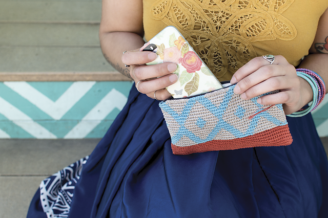 "Azulejo Pouch from <a href=""http://threebagsfull.ca/blog/pom-pom-quarterly-summer-issue-13/"">Summer 2015 Pom Pom Magazine</a>"