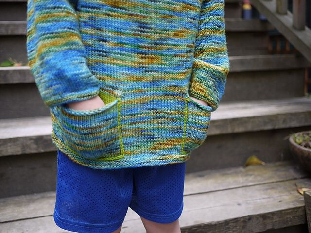"<a href=""http://www.ravelry.com/projects/threebagsfull/sock-yarn-sweater---childs-version-3"">Child's Sock Yarn Sweater</a> in Koigu KPPPM"