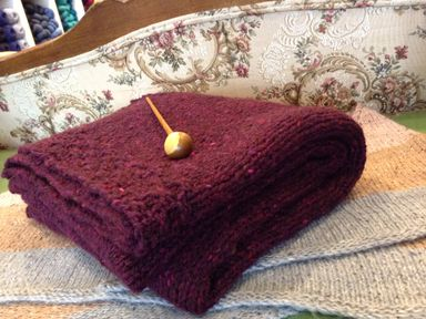 Reader's Wrap with Shawl Pin