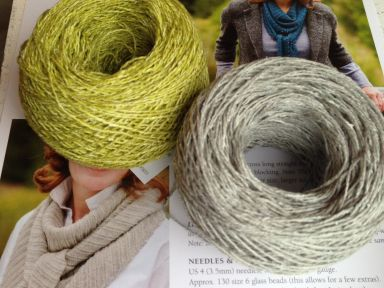 Shibui Linen for Racing Raindrops Scarf