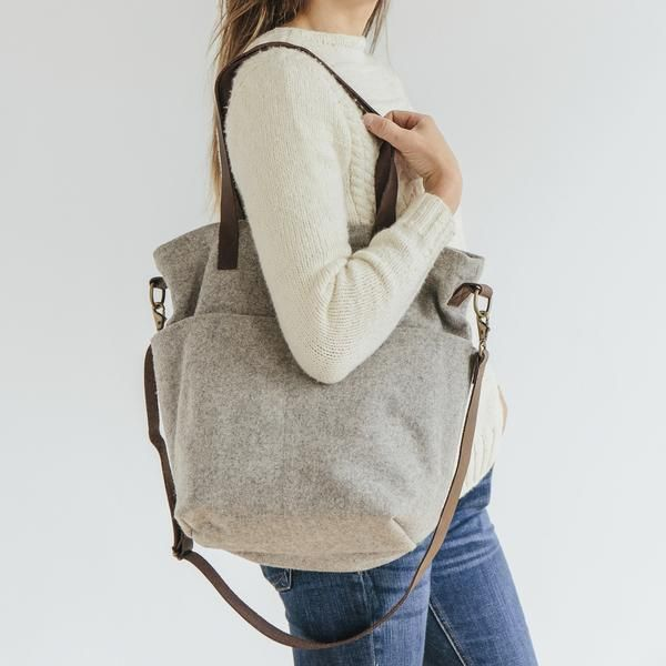 Wool Cross Body Tote @ Twig and Horn