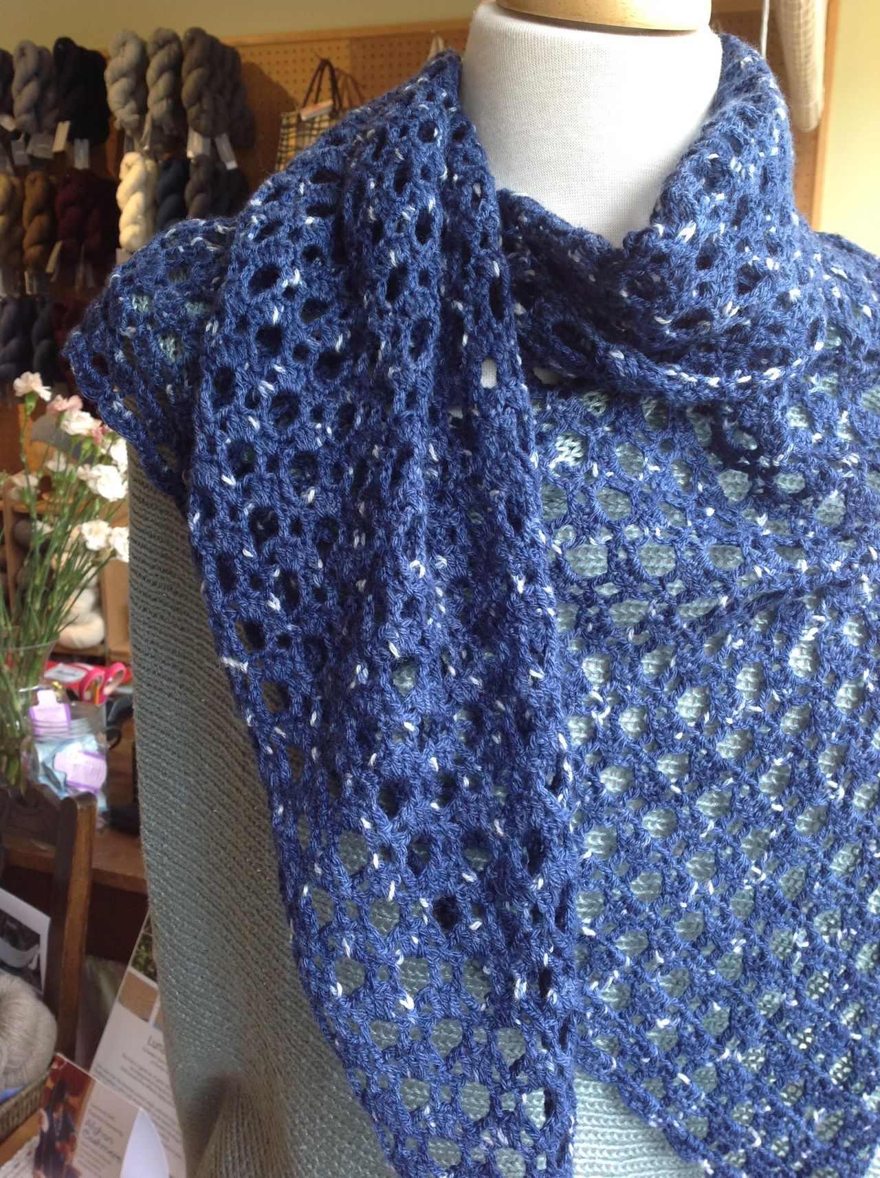 Altair shawl in Swan's Island Firefly