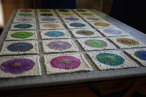 Pop Blanket Squares Blocking