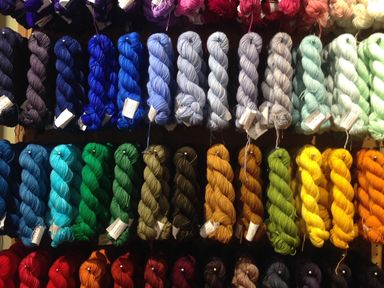 Koigu KPM--a wall of brilliant colour!