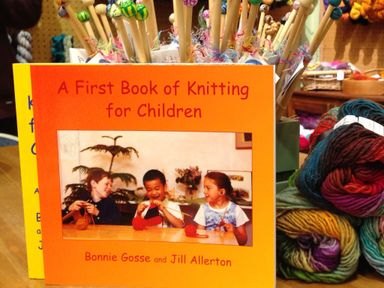 Our favourite book for teaching children to knit