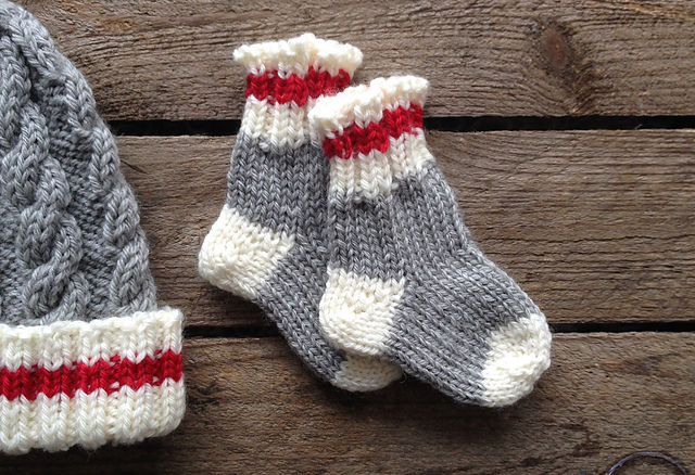 Tiny Lumberjack Socks © Fiona Alice