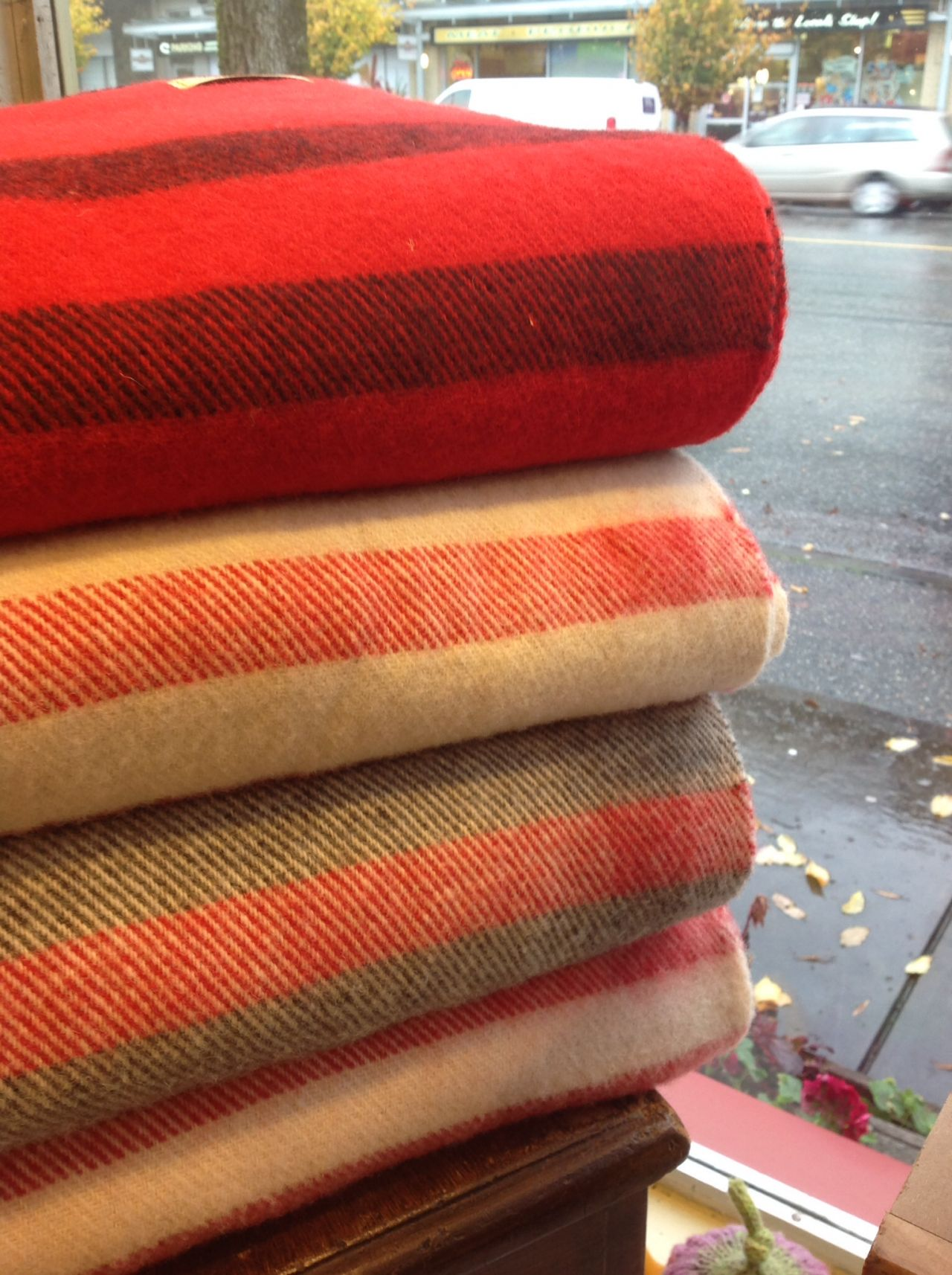 Canadian-made wool blankets--doubles