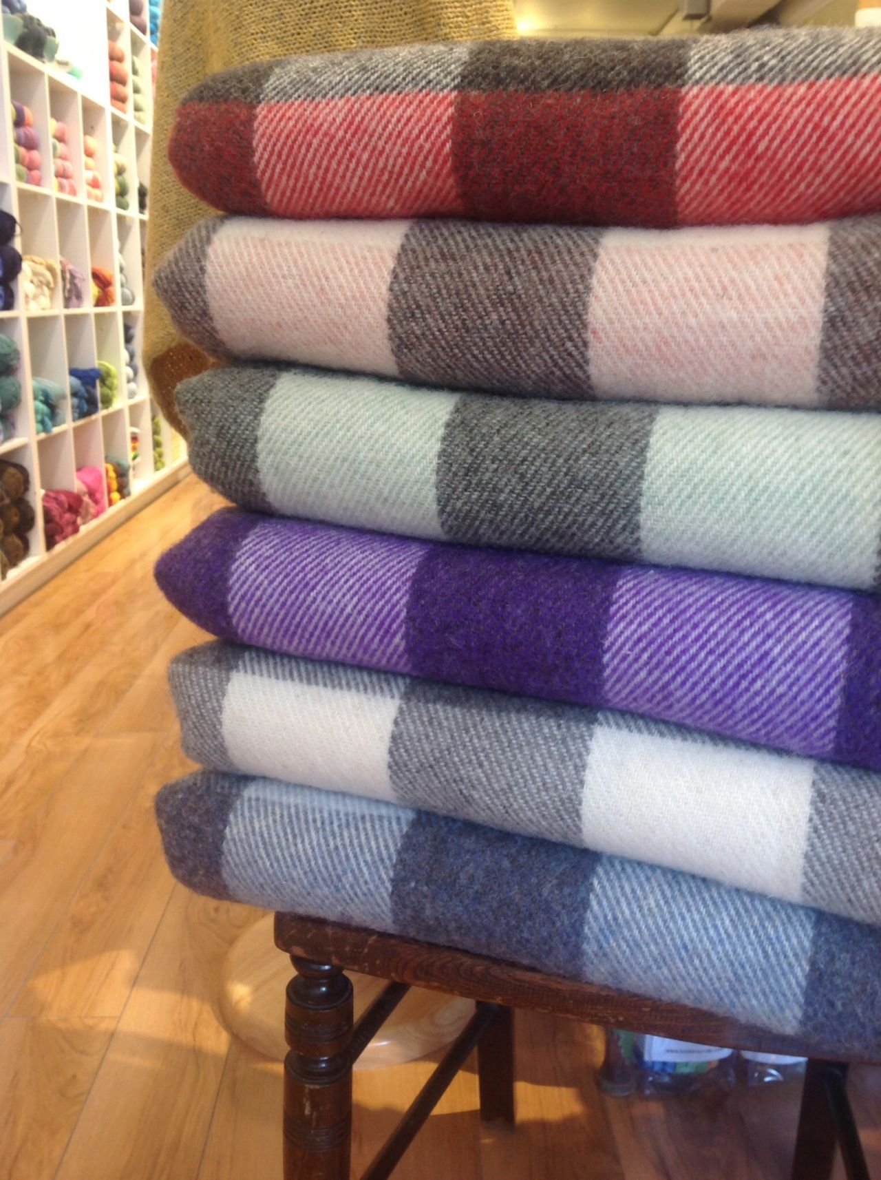 Wool Throws in 6 beautiful colour combinations