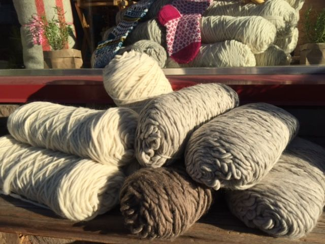 Ready Spun Super Bulky in natural white, taupe, light and dark brown