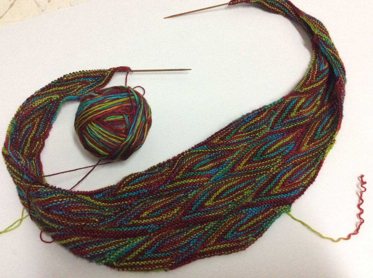 Vom Winde verweht Shawl in progress