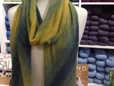 Before and After Scarf 3 Skein Version in Tahiti