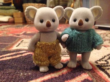 Calico Critters miniature knits