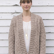 Chestnut: An Intermediate Cabled Cardigan