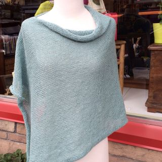 Folded Poncho Repurposed for Summer