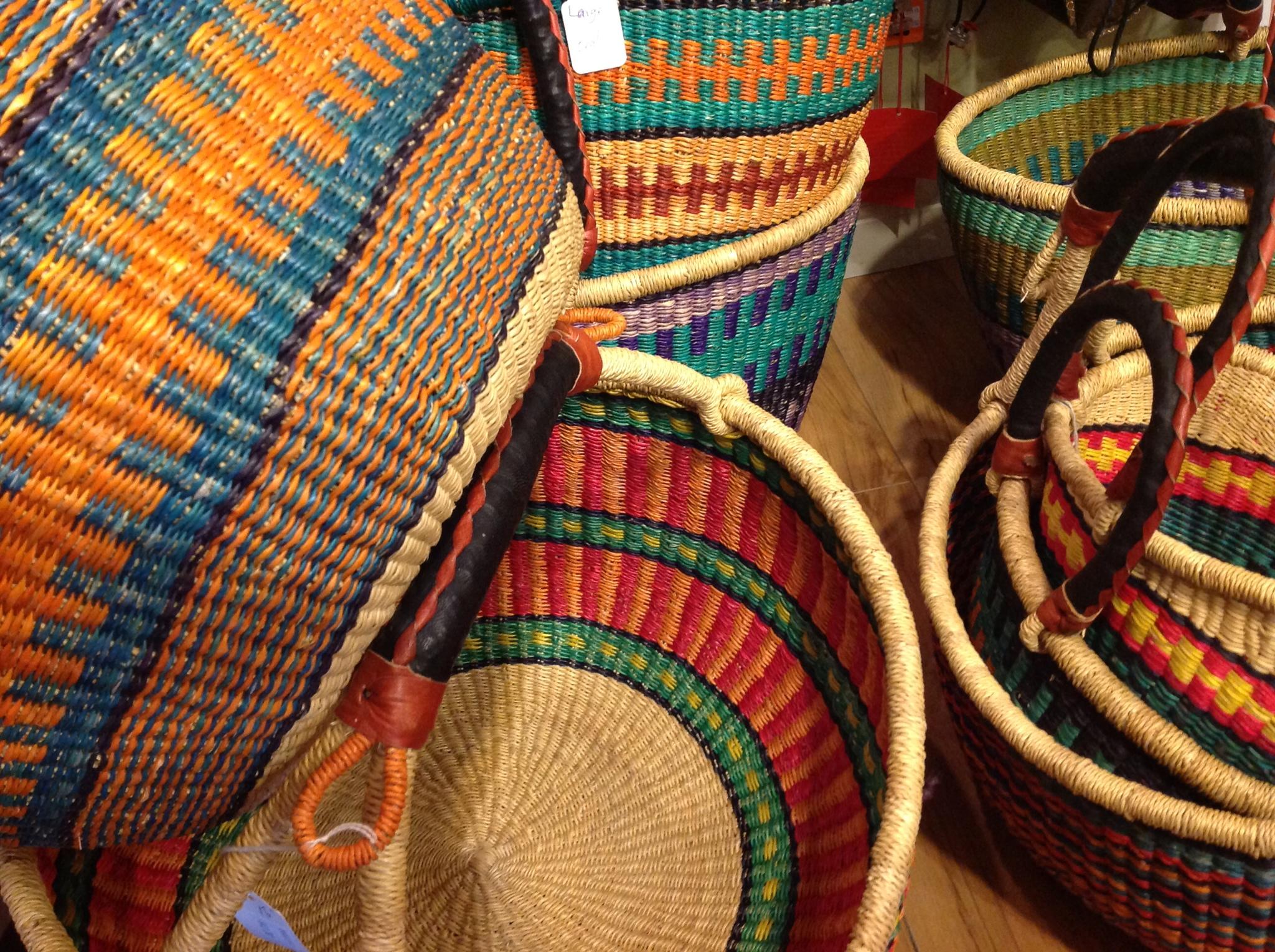 Fair Trade African Baskets Three Bags Full Yarn Store