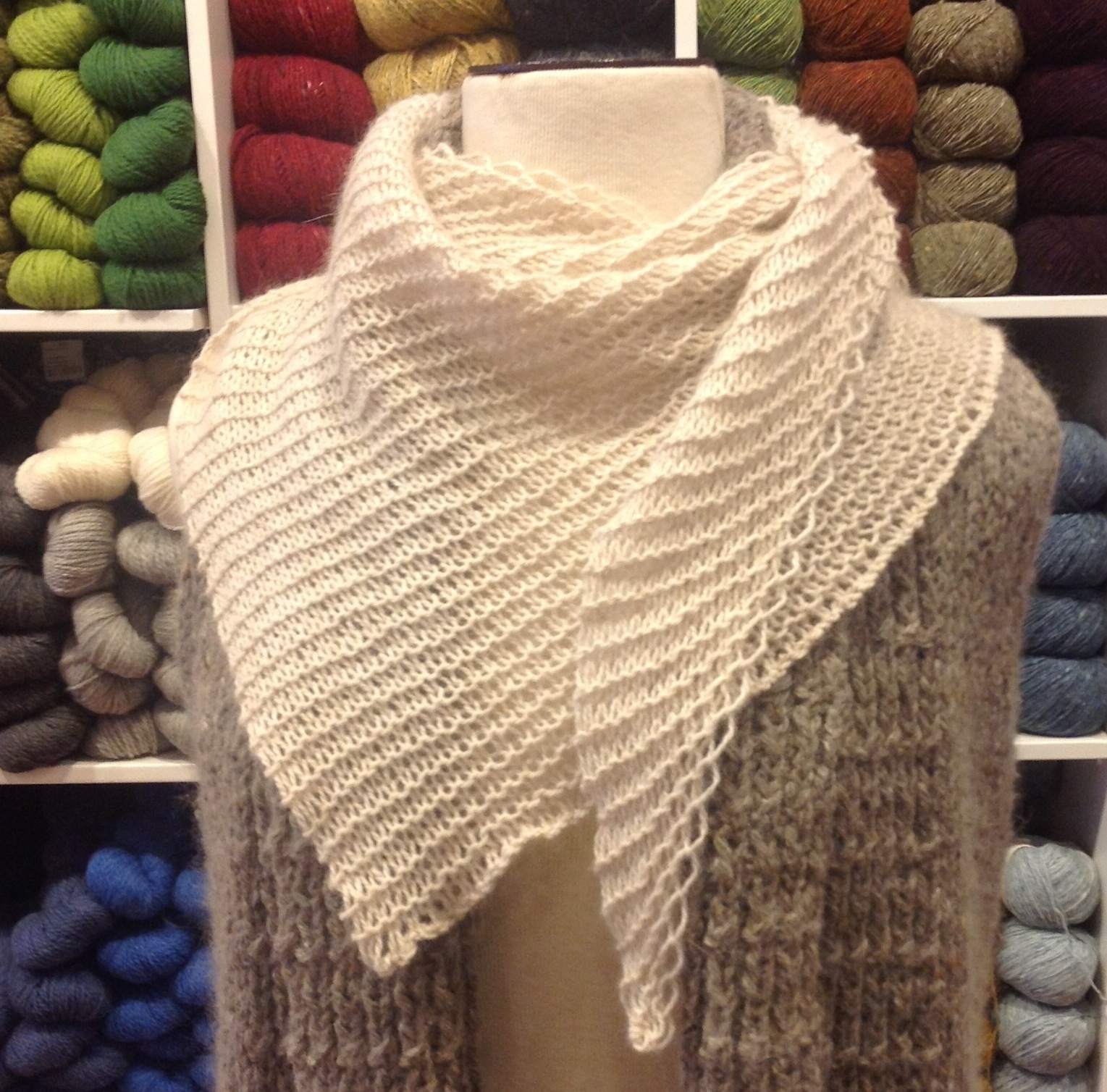 Basic Wedge Shawl Free Pattern Three Bags Full Yarn