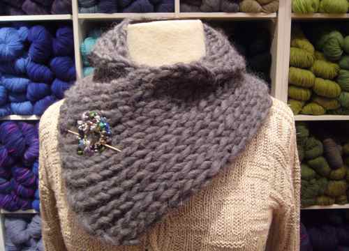 Neck Warmer Knitting Patterns : A Cozy Neck Warmer Three Bags Full Yarn Store - Vancouver, Canada