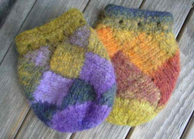 entrelac bags felted