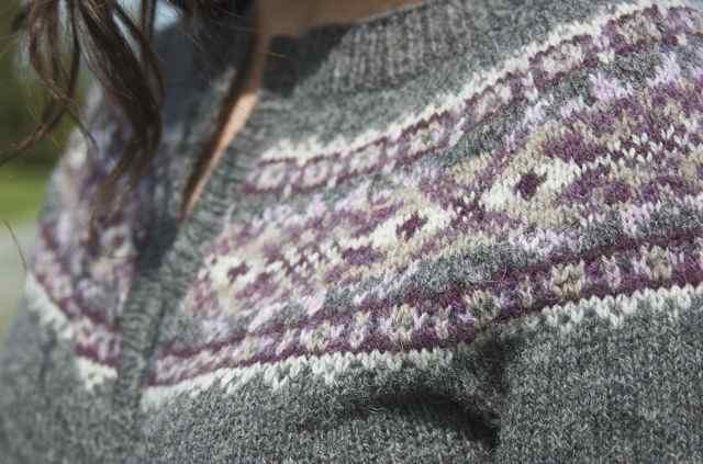Knitting Holidays Shetland : The art of fair isle knitting plum frost cardigan