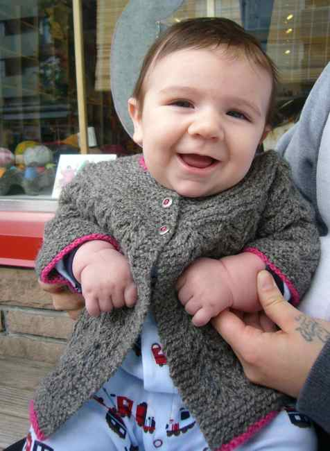 7089c2a49 Baby Hunter Models our February Sweater
